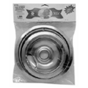 Range Kleen 10784X Universal Chrome Reflector Drip Pan Bowl back-99160