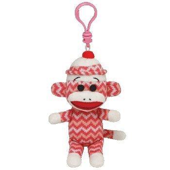 Ty Beanie Baby - Sock Monkey Zig-Zag Clip - 1