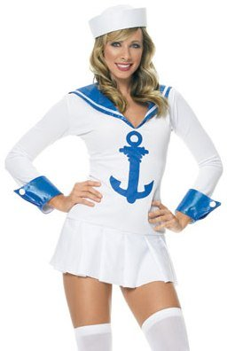Leg Avenue Women's Sailor Halloween Costume (2 Piece)