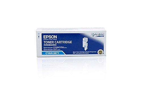 Epson Aculaser C 1700 - Original Epson C13S050671 / 0671 - Cartouche de Toner Cyan - 700 pages