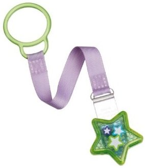 Munchkin Pacifier Attacher, Green Star