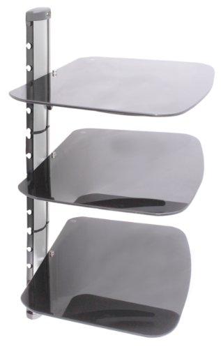 US Brown Bear DS-B3-Slvr Three Shelf AV Component Wall Mount (Silver)