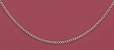 Sterling Silver Necklace, 13 + 1 in Ext., 0.8mm Cable Chain, Child-size