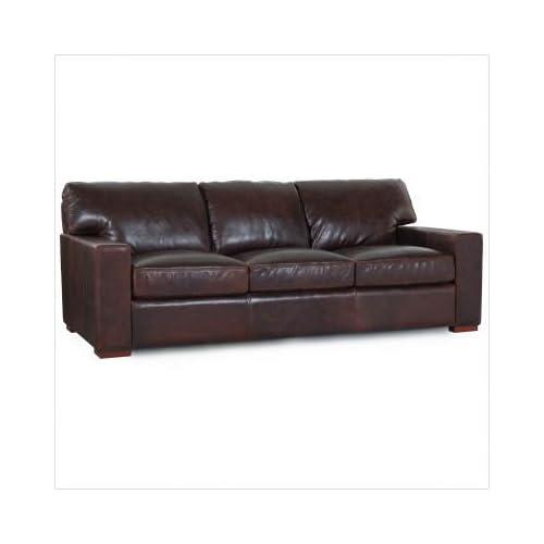 Amazon.com : Moroni # 660 Sofa Grandeur Classic Leather Sofa in Coach