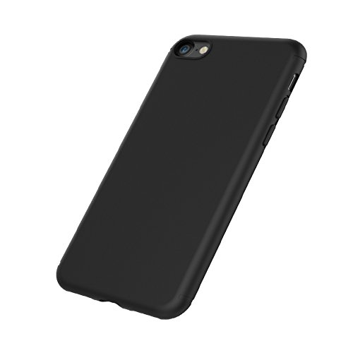 iPhone 7 Custodia in TPU Nero Opaco, EasyAcc iPhone7 morbido TPU Custodia Cover Slim anti scivolo custodia protezione posteriore Cover antiurto per iPhone 7