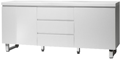 express cs schmal sideboard california 2 t ren 3 schubladen wei lack hochglanz kommode ca60. Black Bedroom Furniture Sets. Home Design Ideas