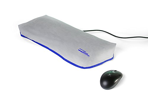 Computer Dust Solutions Keyboard Dust Cover, Covers Large Size Pc Keyboards, Silky Smooth Antistatic Vinyl, Translucent Coconut Cream Color With Blue Trim, (20W X2H X9D)