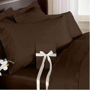 Js Sanders 1500 Series Sheet Set, Full Size, Chocolate front-843639