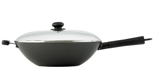 Helen Chen's Asian Kitchen 14-inch Excalibur Nonstick Lidded Wok