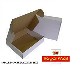 20 x max size royal mail small parcel white cardboard. Black Bedroom Furniture Sets. Home Design Ideas