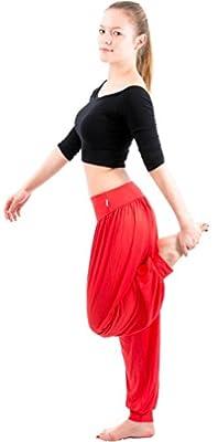 OYMMENEY Women's Modal Elastic Soft Fitness Yoga Harem Pants Trousers