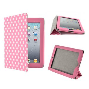 MOTHER' Day GIFT Pink Polka Dot Flip Folio Leather