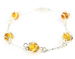 SilverAmber - GL516 - Bracelet Femme - Ambre - Argent 925/1000