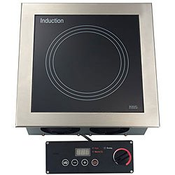 """Tarrison Di-35-1 Stainless Steel Built-In 15"""" Induction Range With Wok And 1-Zone Cooking Hob, Rotary/Touch Key Power Control, 208V, 3000W, 14.5 Amps"""