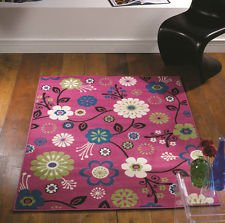 Flair Rugs Element Bohemia Floral Rug, Pink, 120 x 160 Cm by Flair Rugs
