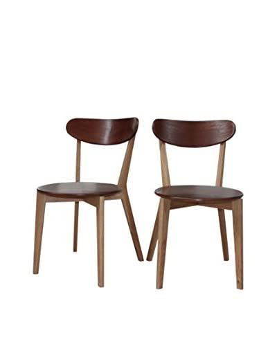 Gallerie Décor Set of 2 Vista Chairs, Brown