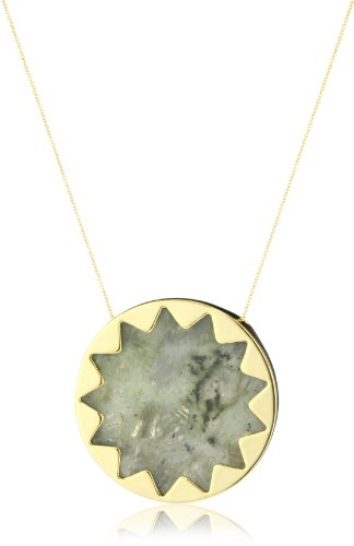 House of Harlow 1960 Sunburst Pendant Necklace with Labradorite