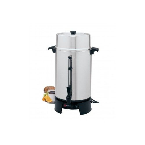 """Focus Foodservice 43536 West Bend Commercially Rated Coffee Maker, 36 Cups, 1090 Watts, 120V, 60Hz, 17-13/32"""" x 11-7/8"""" x 11-7/8"""", Aluminum"""