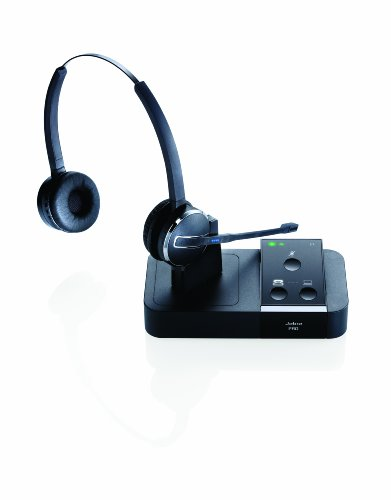 Jabra Pro 9450 Duo Flex-Boom Wireless Headset For Deskphone & Softphone