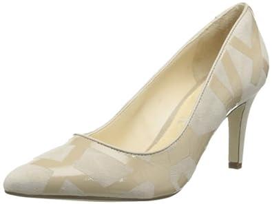 (2.7折)乐步Rockport美女真皮时尚高跟鞋Lendra Pump Doeskin/Tan色 $29.98