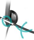Flexibler Mikrofonbügel