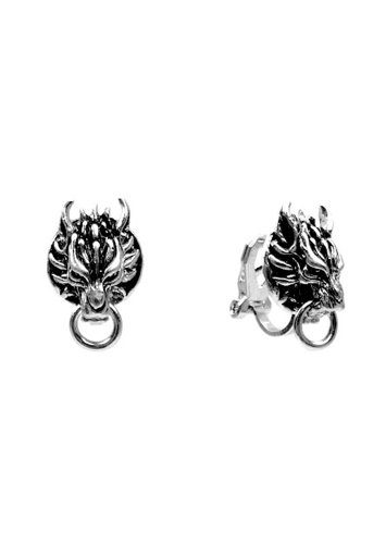 FF7 Advent Children: Cloudy Wolf Earrings (CLIP-ON STYLE) - 1