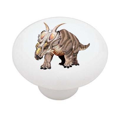 Achelousaurus Dinosaur Decorative High Gloss Ceramic Drawer Knob front-184205