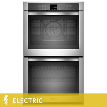 WhirlpoolGold 10.0CuFt Double Wall Oven with True Convection Cooking in Stainless Steel
