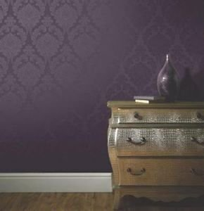 Arthouse Astoria Wallpaper - Plum by New A-Brend
