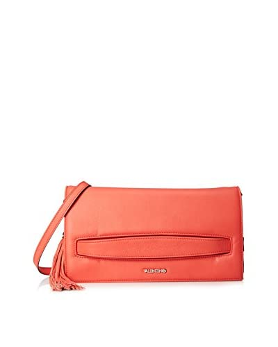 Valentino Bags by Mario Valentino Women's Lou-Lou Convertible Clutch, Coral Red