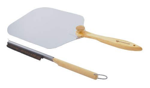 Pizzacraft Pizza Oven Accessories/Folding Peel & Stone Brush - PC0217