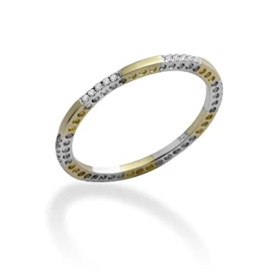 Miore MP9070RP MP9070RP Small Inclusions (SI1) White 0.089 carats Diamond 9ct 2 Colour Gold Ring Size P 1/2