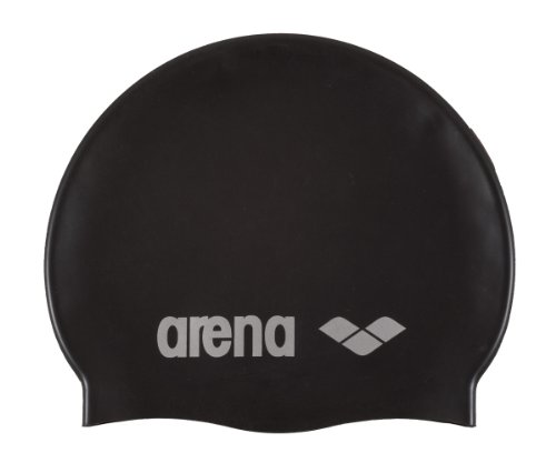 Arena Badekappe Classic Silicone, black-silver,