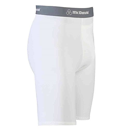 McDavid Classic Logo 710C CL Compression Support Short - White/White - X-Large