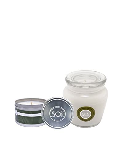 The Soi Co. Moisturizing 16-Oz. Keepsake & 8-Oz. Travel Candles, Rosemary Lavender