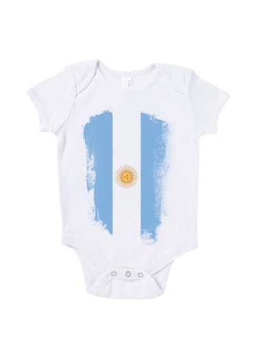 Blue Ivory Argentina Distressed Flag Baby Grow Road To World Cup Brazil 2018 front-987166