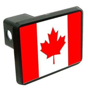 Canada Flag Trailer Hitch Cover 2