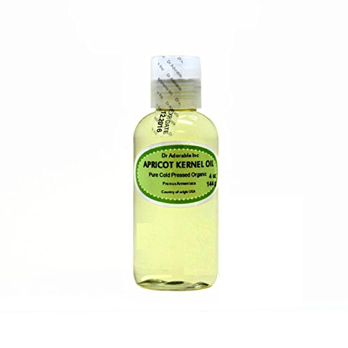 Apricot Kernel Oil Organic Pure Cold Pressed by Dr.Adorable 4 Oz