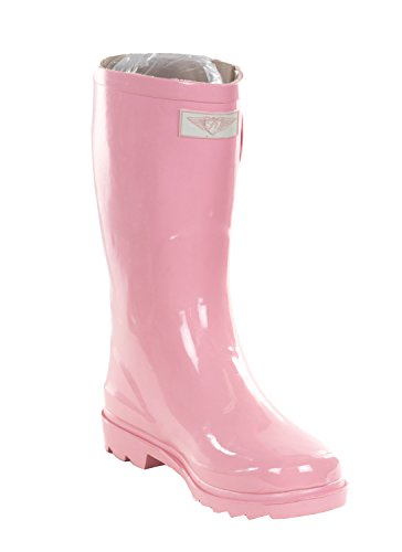 Women Tall 14'' Baby Pink Rubber Rain Boot, 10 (Women Rain Boots Pink compare prices)