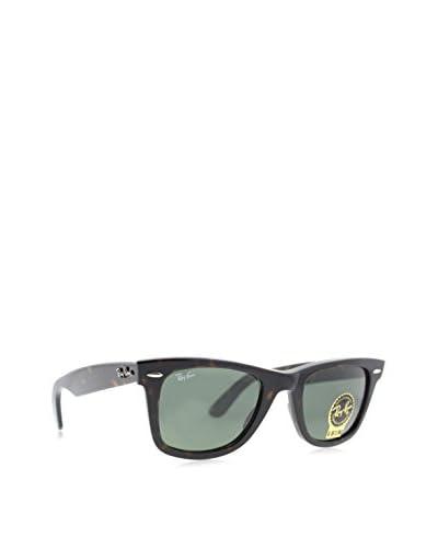 Ray-Ban RB2140 Original Wayfarer Sunglasses, Tortoise/Crystal Green