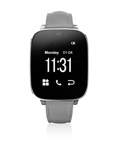UNOTEC Reloj Bluetooth Watch-Bt5 Gris