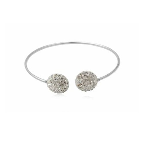 Blue Pearls - White pure Crystal Bangle CRY 8118 T