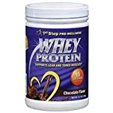 1st Step Pro-wellnes Whey Protein Powder Supports Lean and Toned Muscles, Chocolate Flavor - 14.1 Oz