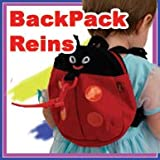 Toddler Runner Back Pack Harness & Reins (Happyface Ladybird with eye, feeler & smile design)