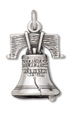 Genuine Raposa Elegance (Tm) Liberty Bell Charm Pendant (19 X 13 Mm). 100% Satisfaction Guaranteed.
