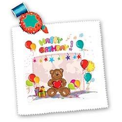 Cute Happy Birthday Teddy Bear Colorful Party