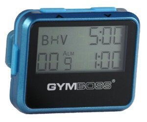 Gymboss Interval Timer and Stopwatch TEAL / BLUE METALLIC GLOSS