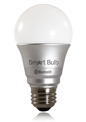 Smart Bulb, App Controlled LED Light Bulb compatible w/ Bluetooth 4.0 Apple/Android Devices, Turn On/Off/Dimmable w/ App, 6.5W A19, Daylight 5700K Light Color