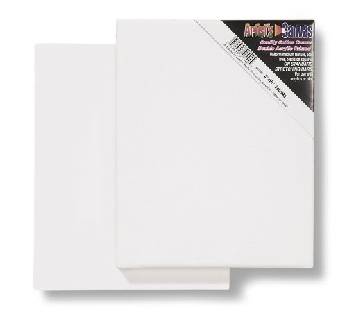 Darice 8-Inch-by-10-Inch Stretched Canvas, 2-Pack