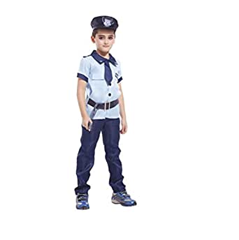 Boy Halloween Costumes for Kids Navy Policeman Astronaut Pilot Party Set of 4